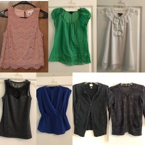 Lot of (7) business casual blouses